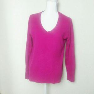 Halogen Nordstrom Pink V-neck Cashmere Sweater